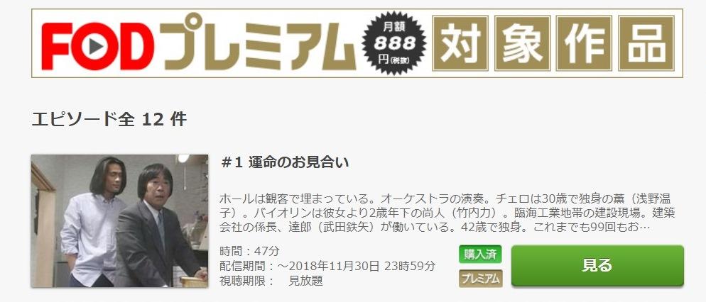 101回目のプロポーズ ドラマ 第1話