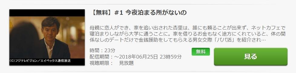 パパ活 ドラマ 第1話