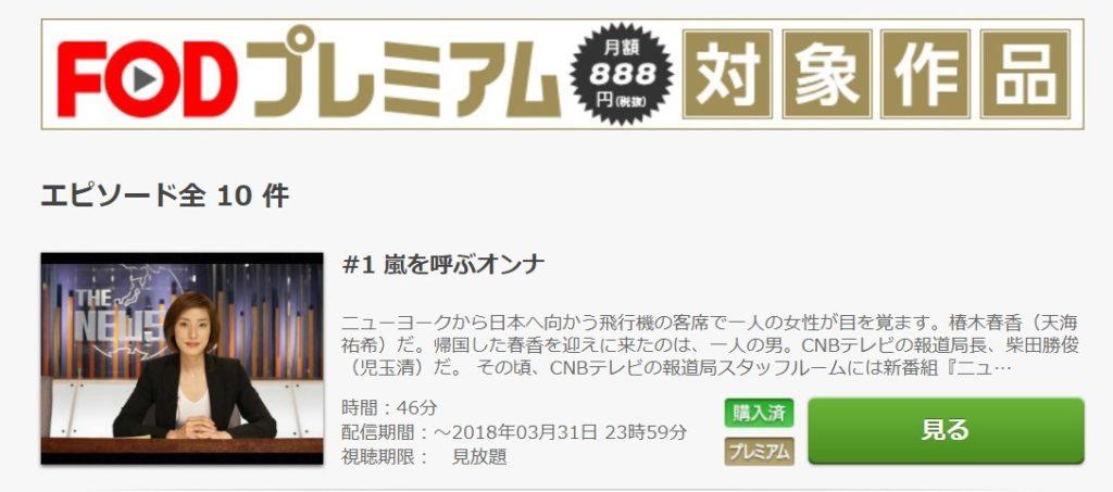 トップキャスター ドラマ 第1話